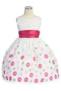 Multi Colored Polka Dot Girls Dress