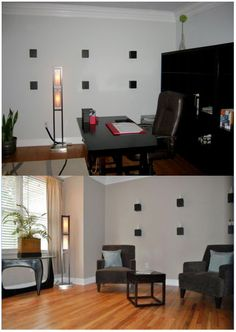 Staging: the office before and after