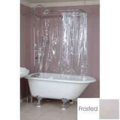 Randolph Morris 180 x 70 Shower Curtain - for the cottage bath in white or frosted