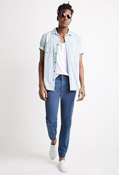 Garment Dyed Chino Joggers   21 MEN - 2000078602