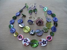 button jewelry - Google Search