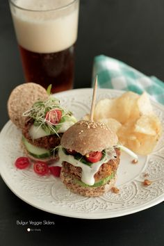 Bulgur Veggie Burger Sliders + Bob's Red Mill Giveaway...Win a $50 Bob's Red Mill Gift Card & 1 Package of Bulgur