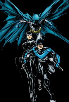 patientcomicaddict: BATMAN, CATWOMAN, and NIGHTWING by Mike Lilly
