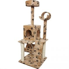 Inspiring Modern Size 52' Cat Tree Activities Condo Kittens Furniture Pet House Color Beige Paws *** To view further, visit now : Cat Tree