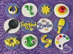 Tangled and Rapunzel Cupcake Toppers - Lynlees