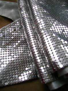 Vintage Silver Mesh  Silk Scarf  Carolee 1970s by truthorwear, $165.00