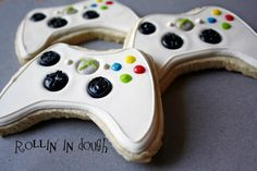 Game Controller Cookies, X Box Controller Cookies, X Box Cookie Favors - 1 Dozen $39.99