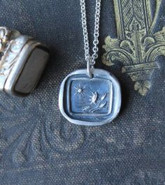 I can not live without you-Sun and sunflower fine silver wax seal intaglio charm sterling silver necklace My Feelings For You, Living Without You, Pen And Paper, Wax Seals, How To Feel Beautiful, Sterling Silver Necklaces, Dog Tag Necklace, Fashion Jewelry, Jewelry Making