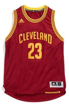 adidas  LeBron James - Swingman Road  Jersey (Big Boys) Cleveland  Basketball 3940899b3