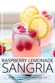 Beautiful and delicious summertime sangria made super simple with frozen raspberry lemonade drink mix, wine, and vodka! Beautiful and delicious summertime sangria made super simple with frozen raspberry lemonade drink mix, wine, and vodka! Summertime Drinks, Summer Drinks, Cocktail Drinks, Cocktail Recipes, Lemonade Cocktail, Summer Drink Recipes, Martini Recipes, Margarita Recipes, Sangria Recipes With Rum