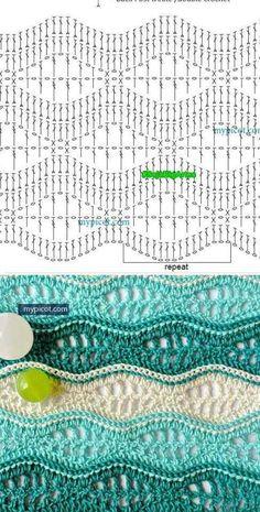 Punto crochet ondas                                                                                                                                                                                 Más