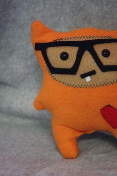 OOAK Dexter the Hipster Geek Monster Plush Toy by CrochetTilDeath, $25.00