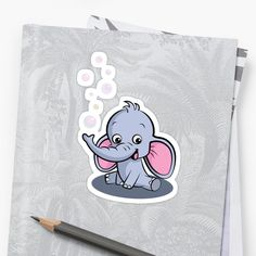 'Cute Baby Elephant' Sticker by duyvolap Cute Baby Elephant, Baby Boy Quilts, Glossier Stickers, Cute Babies, Finding Yourself, My Arts, Snoopy, Art Prints, Printed