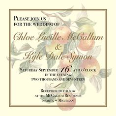 "My ""Elegant Apple"" theme idea for Chloe & Kyle's September 2017 wedding."