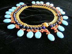 Stunning Vintage Signed Miriam Haskell Egyptian Pharaoh Collar Necklace | eBay It amazes me how prevalent this necklace is (It comes up practically every week) and still sells for several hundred dollars.