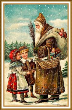 Father Christmas Santa Claus 93 Holiday Counted Cross Stitch or Counted Needlepoint Pattern