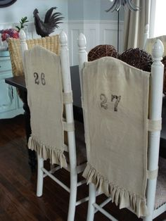 Burlap Chair Covers And Upholstered Seats
