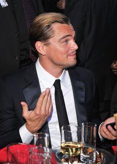 Leonardo DiCaprio. I don't know, I was just born this attractive.