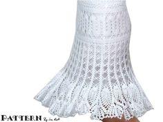 Brugge Crochet Lace Skirt PDF Pattern