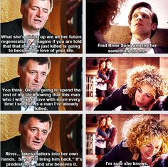 Moffat talks about why River gave her regenerations to keep the Doctor alive.