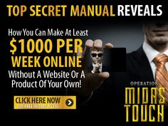 "In a hurry? Check out this video and grab your free copy of this awesome report...  It reveals how you can make an income online. without a website or a product of your own. Get your free copy  of the ""Operation Midas Touch"" report here: http://covertcommissions.com/s/cc/8858/PIN"