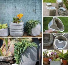 DIY Creative Concrete Planters | DIY Tag