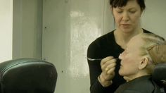"Glenn Close in her make-up chair for ""Albert Nobbs"" (2011)"