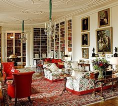 Library Althorp House -- Princess Diana's family home