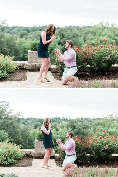 She literally jumped for joy when she saw him on one knee, and it's the cutest proposal ever. <3