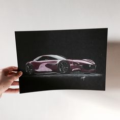Finished: Mazda RX Vision drawing #art #artist #artwork #artistic #drawing #car #cardrawing #carart #luxury #expensive #concept #conceptcar #black #mazda #pencil #pinterest #iphoneography