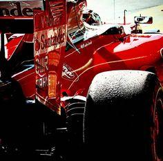 #SebastianVettel #Vettel #ScuderiaFerrari #Ferrari #Formula1 #mirror #closeup #pitlane #F1 #F1test #throwback #tb #motorsport #racing #red #redseason #CircuitdeCatalunya #Barcelona