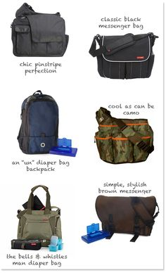 Dads need stylish diaper bags too!