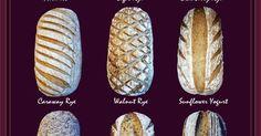 pain artisanal / artisan bread scoring patterns | Bread | Pinterest | Pão Artesanal, Pães e Panificação