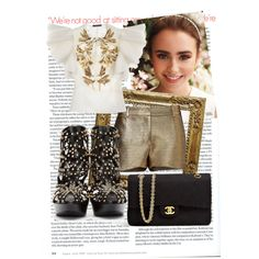 """""""lily collins"""" by mandreealaura on Polyvore"""