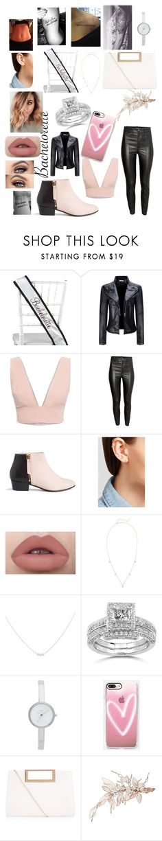 """Untitled #213"" by miranda201518 ❤ liked on Polyvore featuring Hortense B. Hewitt, WithChic, Animale, Nine to Five, Maria Tash, ZoÃ« Chicco, Accessorize, Annello, DKNY and Casetify"