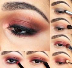 Of Coturno and Spikes: Reddish 90's Grunge Smokey Eye Look - Using Venus Palette and Velvetine Cashmere from Lime Crime.