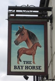 Broadpark, England, United Kingdom  Tim Jenkinson Bay Horse Pub sign in Ashburton Devon  An attractive pub sign on South Dartmoor recently replaced by a less interesting one