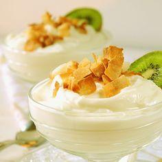 Coconut-Ginger Greek Yogurt  ....... you're speaking everything i like here!
