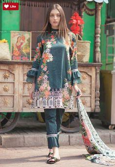 Cross Stitch Emerald aisle Cotton Satin 2017 Stitch StitchEmerald aisle StitchCotton Satin Stitchfashion Whatsapp: 00923452355358 Website: www. Simple Pakistani Dresses, Pakistani Fashion Casual, Pakistani Dress Design, Pakistani Outfits, Pakistani Clothing, Pakistani Bridal, Stylish Dress Designs, Stylish Dresses, Casual Dresses