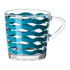 IKEA - SATSNING, Mug, Made of tempered glass, which makes the glass durable and extra resistant to impact.