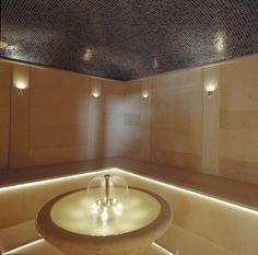 Steam room with fountain::mynucerity.biz/ iloveit
