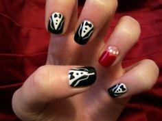 black tie #nails