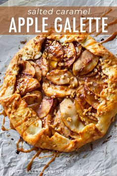 As delicious and impressive as pie, but half the work! This salted caramel apple… As delicious and impressive as pie, but half the work! This salted caramel apple galette is the easiest Fall dessert. Recipe on sallysbakingaddic… Apple Dessert Recipes, Tart Recipes, Baking Recipes, Baking Desserts, Apple Recipes Savory, Puff Pastry Desserts, Healthy Recipes, Thanksgiving Desserts, Fall Desserts