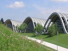 Las tres colinas del Zentrum (Museo) Paul Klee. La obra de Renzo Piano tardó tres años en construirse. Berna. Suiza