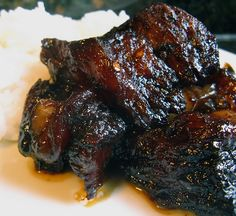 Crock Pot Short Ribs (I substitute a tablespoon of Chinese five spice powder for the jalapenos, marinate overnight and toss in the crockpot. Serve on top of a pile of garlic mashed potatoes. Yum!)