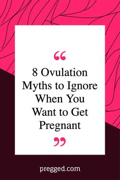 There are a number of ways to help you work out when you're ovulating. But there is also lots of false information floating around. Here we look at some common myths about ovulation and tell you why they're not true. #pregnancy #pregnancytips #pregnancysymptoms Unexpected Pregnancy, All About Pregnancy, Pregnancy Labor, Chances Of Getting Pregnant, Trying To Get Pregnant, Fertility Problems, Earliest Pregnancy Symptoms, Natural Fertility, Common Myths