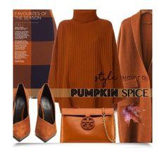 """Pumpkin Spiced is Nice"" by eilselrenrag ❤ liked on Polyvore featuring HUGO, Joseph, Tory Burch, Balmain and pumpkinspice"