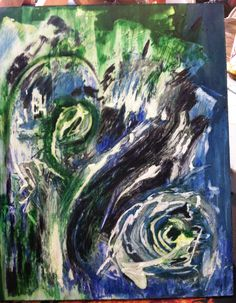 """""""Submerged"""" aka """"You're a Van Gogh fan, aren't you?"""" WIP? plaster and wood stains"""