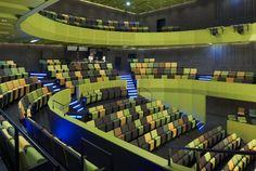 Artistic Spira Performing Arts Center as a New Sweden Landmark : Colorful Seat Wonderful Spira Performing Arts Center Interior
