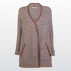 Long knit cardigan #Wool #Cotton #Nylon #Cardigan #Knitwear #XandresAW16 #Autumn #NewArrivals #FallCollection #AW16 #Xandres